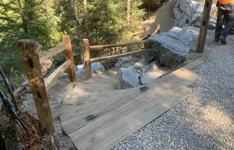 rock wall building and landscaping